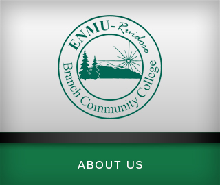Picture of school logo. ENMU Ruidoso Branch Community College. Click to learn about us.